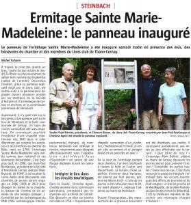 L'Alsace 26/07/2016